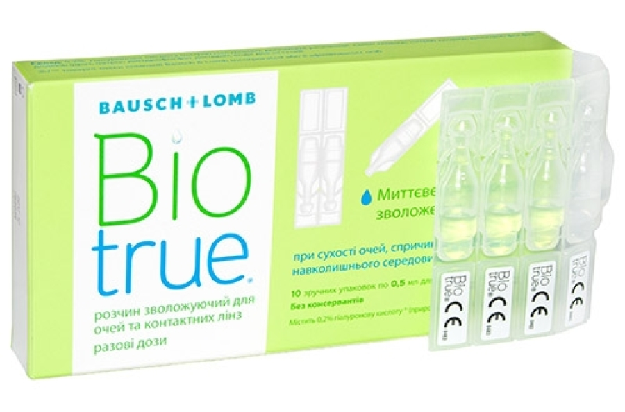Акция! Biotrue drops 10*0,5 ml